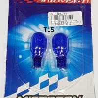 T15 Autovision Microzen Blue Lampu Bohlam Sen Senja Mobil 12v 16w