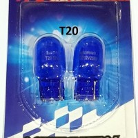 T20 Autovision Microzen Blue Lampu Bohlam Sen Senja Mobil 12v 21w