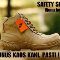 SEPATU PRIA NIKE SCOTT SAFETY BOOTS CREAM UJUNG BESI TERMURAH BAGUS