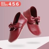 Mary Jane Ballet Shoes BIG - Burgundy (Sepatu Bayi PYOPP)
