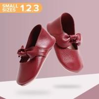 Mary Jane Ballet Shoes SMALL - Burgundy (Sepatu Bayi PYOPP)