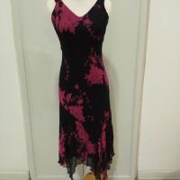 Gaun pesta / baju pesta / 100% silk / gaun dansa latin / DRESSBARN US