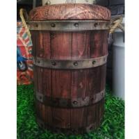 Kursi Tong / sofa Bangku Kaleng Tin Stool Wood Barrel Kulit oscar