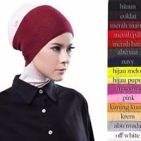 Ciput Inner Bandana Hijab Rajut Polos Anti Pusing Wanita Okechuku