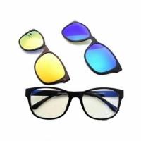 Kacamata hd vision frame magnet Ask magic vision 3 in 1 polarized uv