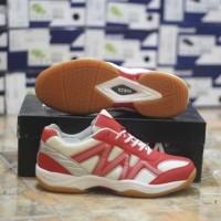 Sepatu Badminton Original Asli Murah Forza Result Shoes Teaberry Merah