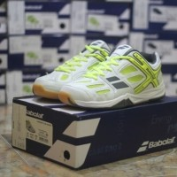 Sepatu Badminton Original Murah Babolat Shadow Club Unisex Putih