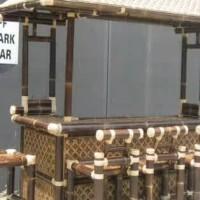 kursi dan perabot bambu hitam Medan