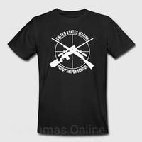 Atasan/Kaos/Baju/T-Shirt/US MARINE SCOUT SNIPER SCHOOL