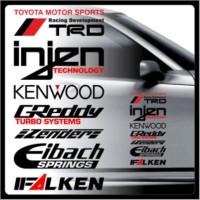 sticker trd toyota motor sport sponsor set