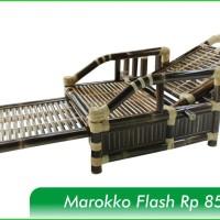 Kursi Bambu Hitam Tipe Maroko Flash