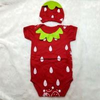 Baju Bayi Perempuan Jumper Kostum Karakter Strawberry