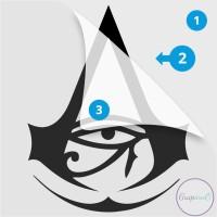Decal Sticker Macbook Apple Assassin Creed Origin Video Game Stiker