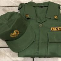 Baju PDL Linmas Hansip Satu Stel Plus Topi