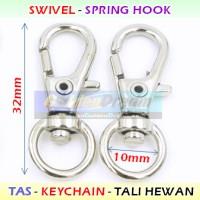 10x32mm Kew-Kew Spring Hook 1cm Cantolan Tas Kunci Tali Webbing Kalung