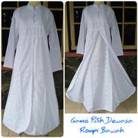 Gamis putih dress panjang putih wanita dewasa baju umroh dan haji