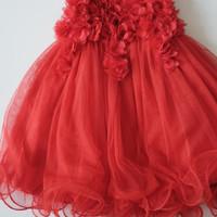 Baju Pesta Anak Merah Happyelm Pesta Red