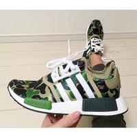 adidas nmd r1 X bape // sneakers hype // sepatu kece // kafo sepatu