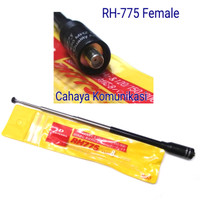 antena ht tarik 40cm Rh775 konektor Female antene 2 band tarik ulur