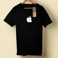 Kaos Distro Premium Apple / T-shirt Black (Poliflex)