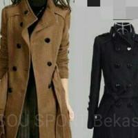 Blazer Baju wanita panjang trend korea / korean coat / terbaru