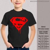 [KAOS SUPERHERO ANAK] baju distro SUPERMAN BLOOD keren lucu
