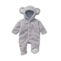 romper Baby motif koala abu abu with hoodie lucu