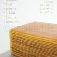 Kue Lapis Legit Keju/Prem/Kenari/Coklat/Maskovis 20x20cm