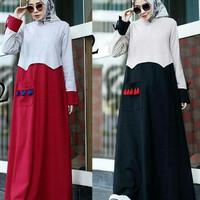 casual santai dress maxi gamis baju longdress maxy wanita hijab santai