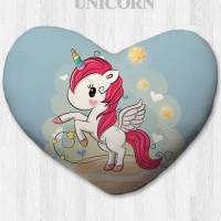 Bantal hati / kado valentine - Cheerful Unicorn Small