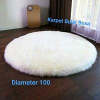 Karpet Bulat Bulu Cantik Diameter 100