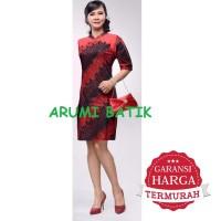 Dress Terusan Ceongsam Atasan Baju Seragam Wanita Batik 2199 XL XXL