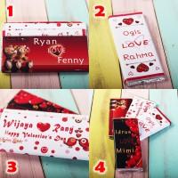 Coklat Valentine bisa tulis nama / Kado / Chocolate / Gift