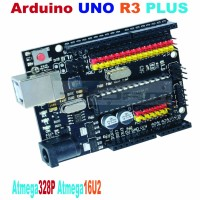 Arduino UNO R3 PLUS Sensor I/O Shield Atmega328P Atmega16U2 Expansion