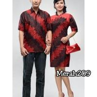 Baju oriental 209 Batik couple sarimbit parang merah keluarga imlek