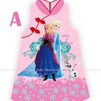 Dress anak Baju Cheongsam Imlek Frozen 7 - 12 th