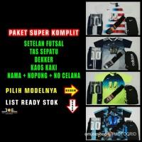 Paket Super Komplit Setelan Baju Futsal Bola Nike Adidas Puma