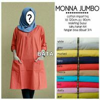 Baju Atasan Tunik Wanita Pakaian Muslim Blouse Muslim Monna Jumbo