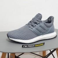 Sepatu Adidas Ultra Boost Ultraboost Primeknit 4.0 Full Grey Oreo Abu