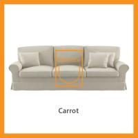 Ridente   Sofa Minimalis Custom 3 Seater Tipe Carrot - Beige