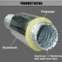 Alumunium ducting flexible insulated 4 inch