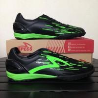 Sepatu Futsal Specs Accelerator Lightspeed In Black Opal Green