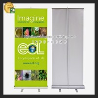 Roll Up Banner Stand / Tiang Gulung Poster Ukuran 60x160cm IMPORT!!!
