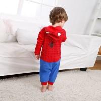 Spiderman Long Sleeve Romper Baju Bayi