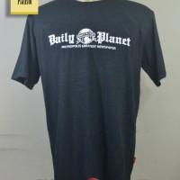 T-Shirt Superman DAILY PLANET / Kaos Superhero / Katun Biru Navy