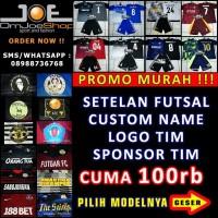 [Promo Murah] Setelan Baju Jersey Futsal Bola+Custom Name+LOGO+SPONSOR