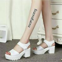 sepatu high heels morymoni docmart putih
