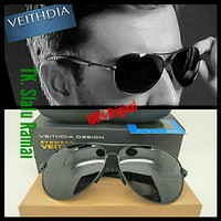 (Original) Kacamata Sunglasses Aviator Polarized VEITHDIA SL001