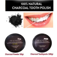 Healthylife whitening teeth actived charcoal powder pasta gigi arang