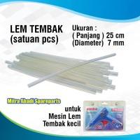 Isi Ulang Lem Tembak Lilin/Refill Glue Gun Stick 7mm 25 cm